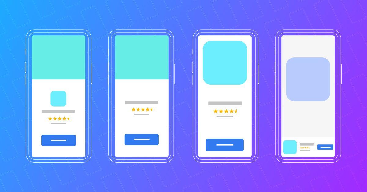 Creative template testing