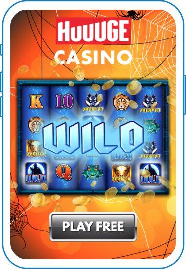 Huuuge casino slot game with Halloween theme