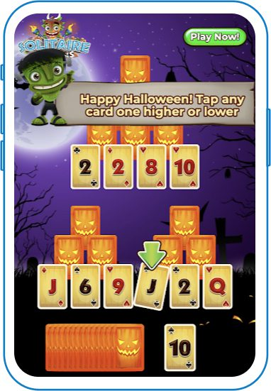 Goblins and jacko'-lantern themed game
